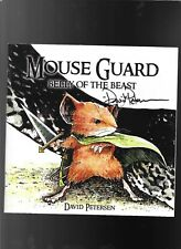Mouse Guard Belly of The Beast 1 4th print 2006 signed David Petersen