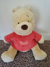 """Disney Baby Winnie the Pooh Plush with Red Shirt Large 16"""" Soft"""