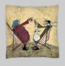 Sam Toft estilo Mezcla De Lino Doble Cara Cushion Covers 45X45 18X18