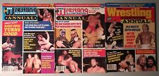 Vintage Magazine Lot of 3 Pro Wrestling Illustrated Annual New WCW WWF NWA