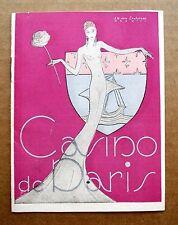 1944 Mini Casino de Paris Theater Program w/ Jane Sourza