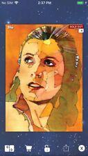Topps Star Wars Digital Card Trader Princess Leia Aquarelle Insert Award