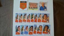 18 VIGNETTES PANINI  FOOTBALL CHAMPIONNAT FRANCE 1978 REPRINT NIMES