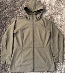 042 Womens Marmot Soft Shell Windproof Waterproof Jacket Hiking Beige Size L VGC