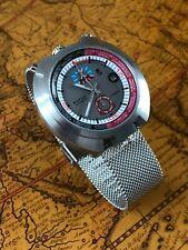 Automatikuhr Sorna Racing GMT Retro Bullhead Watch Milanaiseband NOS Style