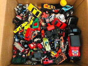 Vintage Random box of toy cars trucks Matchbox Buddy L hot wheels