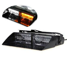 Amber/White Car 16led 18 Flashing Emergency Vehicle Dash Warning Strobe Light