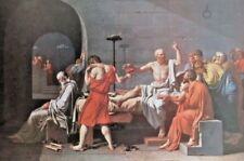 """1960 Art Print """"The Death Of Socrates"""" By Jacques Louis David French Free Ship"""