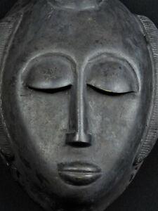 Art africain - Masque Dogon en bronze 20x13cm