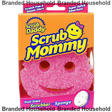 SCRUB DADDY MOMMY DUAL SCRUBBER AND SPONGE SCRATCH FREE PINK