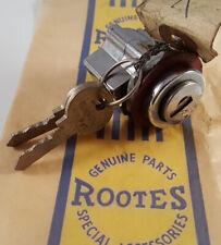 Rootes Group Hillman Sunbeam Imp Chamois Original NOS Glove Box Lock & Keys