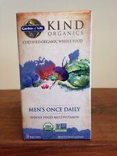 Mykind Men's Once Daily Multi-Vitamin 30 Tablets Garden of LIFE USDA Organic