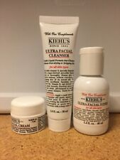 Kiehl's Ultra Facial Starter Travel Trio Kit Set Cleanser, Toner, mask and Cream