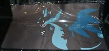 Mega Charizard X Playmat Fire Dragon Pokemon TCG Trading Card Game Play Mat Fade