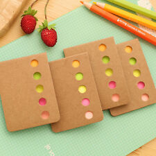 1 Set Memo Pad Notebook Message Note Paper Rectangle Kraft Paper Sticky Notes