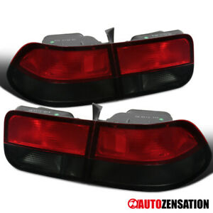 For 1996-2000 Honda Civic Coupe Red/Smoke Tail Lights Brake Lamps Left+Right