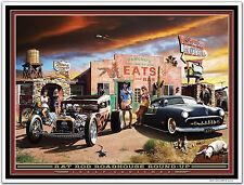 Hot Rod Art Print by Larry Grossman RAT ROD ROADHOUSE