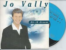 JO VALLY - Als ik droom CD SINGLE 2TR CARDSLEEVE 1998 BELGIUM RARE!