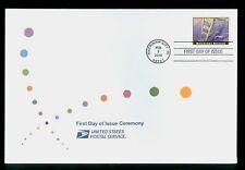 USA #4438 2010 $4.90 Mackinac Bridge Stamp First Day Ceremony Program FDC