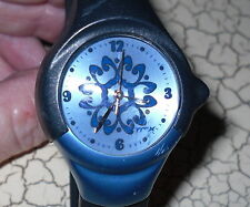 Working Timex Ladies Watch Blue Flowers Womens Rubber Band Tmx
