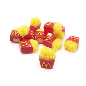 10Pcs Dollhouse Resin McDonald's Fries 1:6 Miniature Chips Accessories