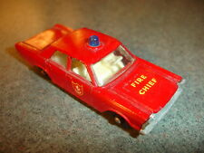 Old Vtg Antique Diecast Matchbox #59 Ford Galaxie Fire Chief Toy Made In England