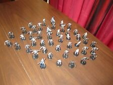 Star Wars miniatures 10 battle droids and super battle droids  with cards,