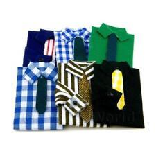 Miniatura Para Casa De Muñecas Juego de 6 Camisas Con Lazos