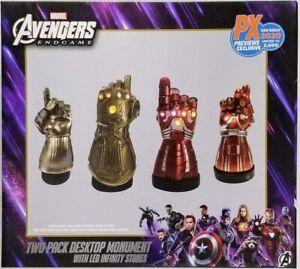 Marvel Infinity & Nano Gauntlet LED Desk Monument SDCC 2020 LIGHTS UP-2000 MADE