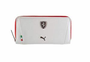 PUMA PMMO3021WHT FERRARI LS WALLET F White Polyester Wallet