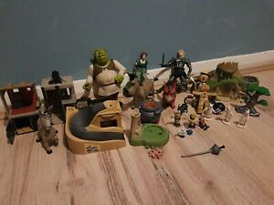 Huge Bundle Shrek Toy Figure Bundle Fiona donkey dragon pinocchio