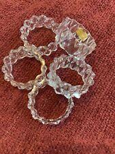Genuine Lead Crystal Napkin Rings- Set Of 5