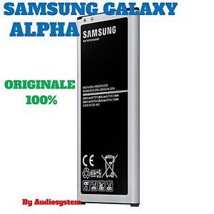 BATTERIA ORIGINALE SAMSUNG per GALAXY ALPHA SM-G850F EB-BG850BBE 1860MAH
