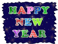 Happy New Year # 10 - 8 x 10 Tee Shirt Iron On Transfer