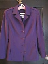 Ladies VotreNom Paris Purple Microfibre Blazer Jacket  Size 1  (S/M)