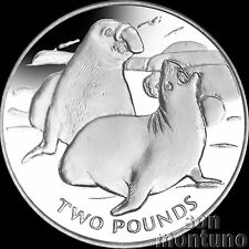 2017 ELEPHANT SEAL CuNi Copper Nickel UNC Coin South Georgia & Sandwich Islands