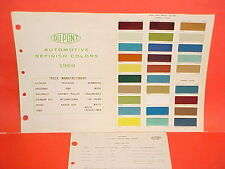 1969 CHEVROLET GMC FORD DODGE JEEP WHITE IH INTERNATIONAL MACK TRUCK PAINT CHIPS