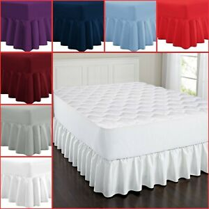 Luxury Plain Dyed Deep Fitted Valance Sheet Poly-Cotton Sheet Single Double King