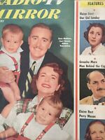 Vintage Collectible Radio TV Mirror Movie Magazine Grace Matthews and Family