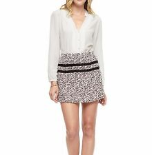NWT Juicy Couture PLEATED Silk Shirt Blouses, Vanilla Ivory, XS, retail $178