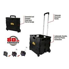 Portable Tool Carrier Wheeled Jobsite Carrying Case Folding Storage Handcart