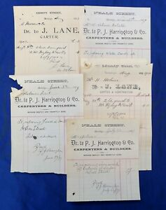 PRE WW1 BENDIGO SANDHURST PAPERS; P. J. HARRINGTON (CARPENTER) J. LANE (CARTER).