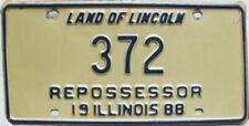 1988 Illinois Repossessor license plate # 372