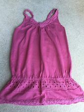Girls Pink Strappy T-Shirt Age 6 From M&S In Excellent Condition