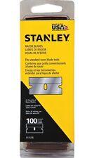 STANLEY 11-515A SINGLE EDGE SCRAPER BLADES / RAZOR BLADES - 100 PACK BNIP