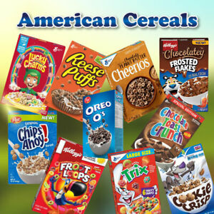 American & Canadian Cereals - Reese Puffs, Lucky Charms, Froot Loops, Trix...