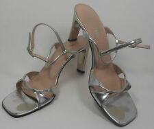 ESCADA Vintage  Shoes Sandals 7 37 Silver Metallic  HapaChico Haute Couture