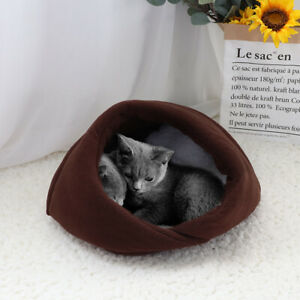 Warm Cat Cave House Fleece Puppy Cat Cushion Mat Sleeping Hiding Private Place