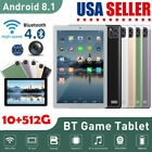 """Tablet Android 10.1"""" WiFi HD 10 Core PC Google GPS Dual Camera Bluetooth US 2021"""