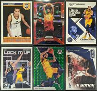 Lot of (6) Rudy Gobert, Including NBA Hoops RC, Prizm Red Ice, Mosaic & inserts